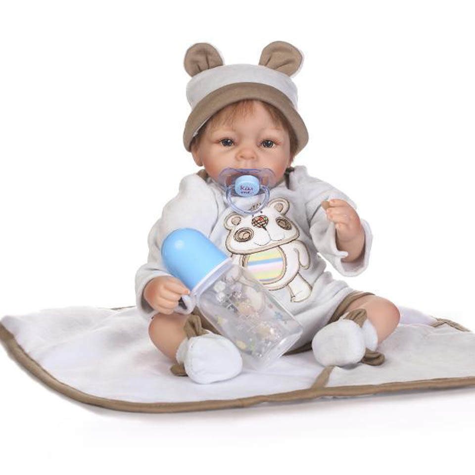 2017 NPK 16'' Reborn Babies Alive Doll Soft Silicone Realistic Baby Dolls Fashion Baby Toys Lifelike Bear Bebe Reborns Boneca npk lifelike 16 soft silicone reborn baby dolls truly pretty girl reborns realistic babies doll wear dress toddler playmate
