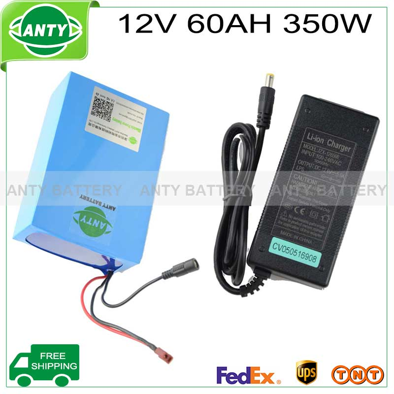 12v Battery 60ah 350w ebike lithium battery 12v with 12.6v 5A charger,30A BMS for solar light electric bicycle free shipping  12v 200ah rechargeable lithium battery pack for ebike storage energy or solar power and ups with 5a fast charger