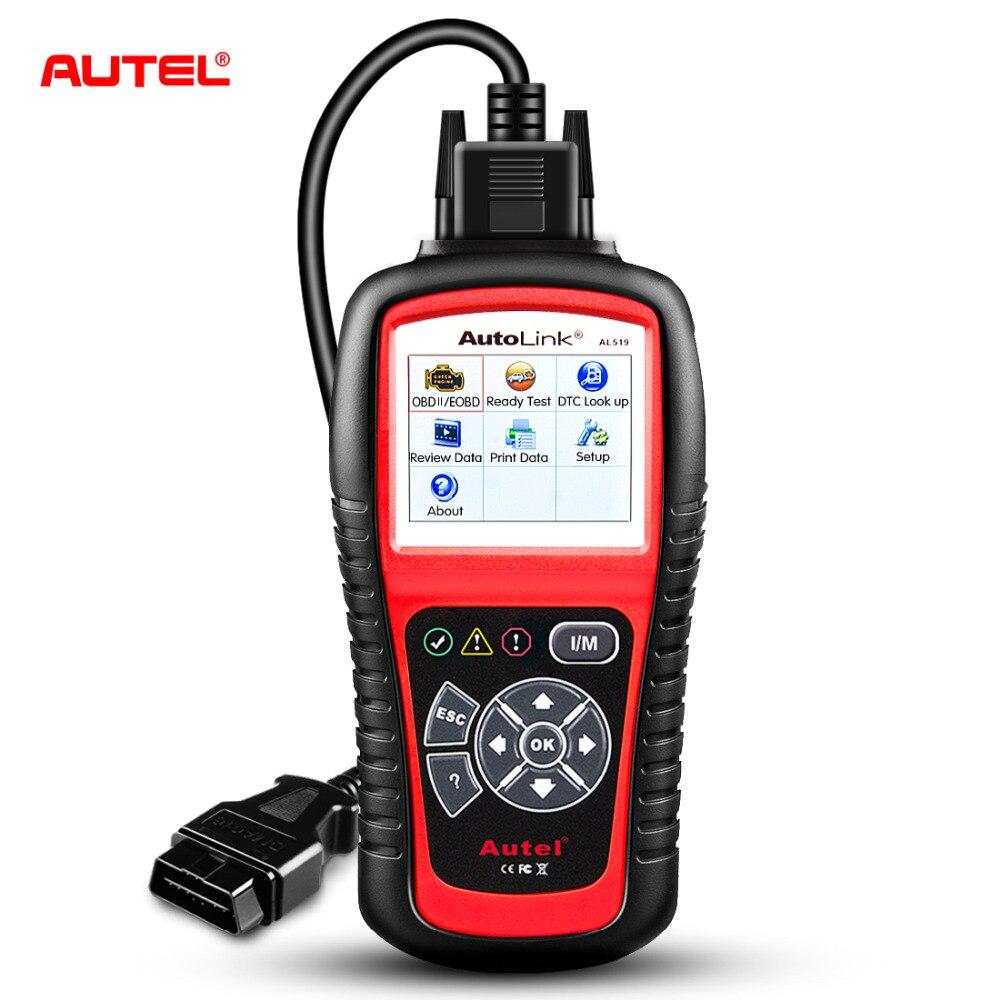 Оригинальный сканер Autel AL519 OBD2 автомобильный диагностический инструмент AutoLink AL519 OBD ll сканирующий инструмент считыватель кодов EOBD диагности...