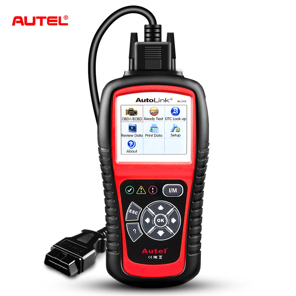 Original Autel AL519 OBD2 Scanner Car Diagnostic Tool AutoLink AL519 OBD Ll Scan Tool Code Reader EOBD Diagnostic Tool Scanner