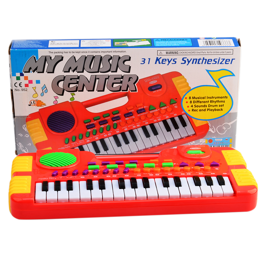 31 Key Synthesizer Electronic Keyboard Piano Musical Toy for Children 952 - Red