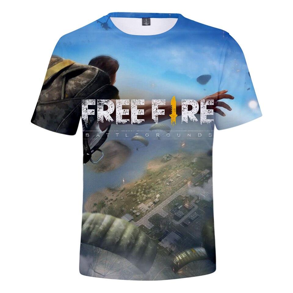 2019 Game free fire Men t shirt 3D Harajuku Summer Short sleeve Trendy Cool Tshirt Men/Women Hot Print Casual Tops 4XL