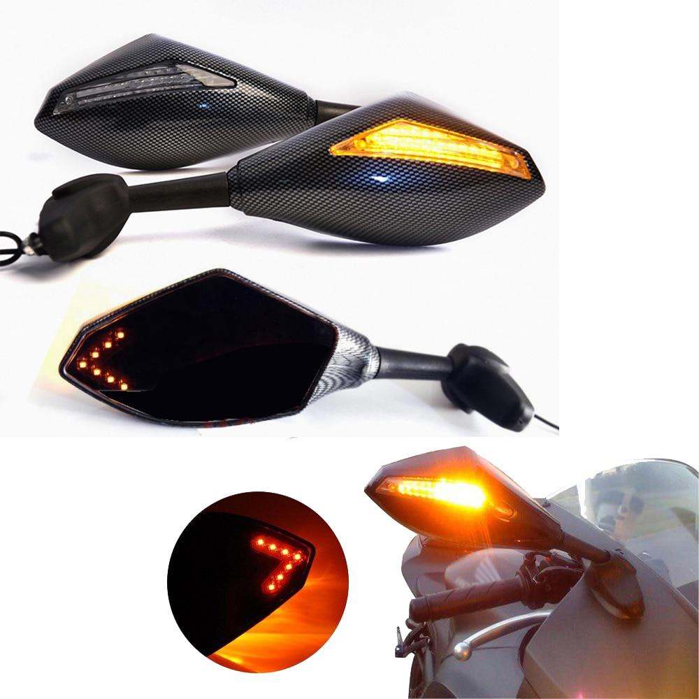Evomosa мотоцикла <font><b>LED</b></font> поворотники зеркало с подсветкой заднего вида Зеркала для Honda <font><b>CBR600RR</b></font> 2003-2011 CBR1000RR 2004-2007 Спорт велосипед