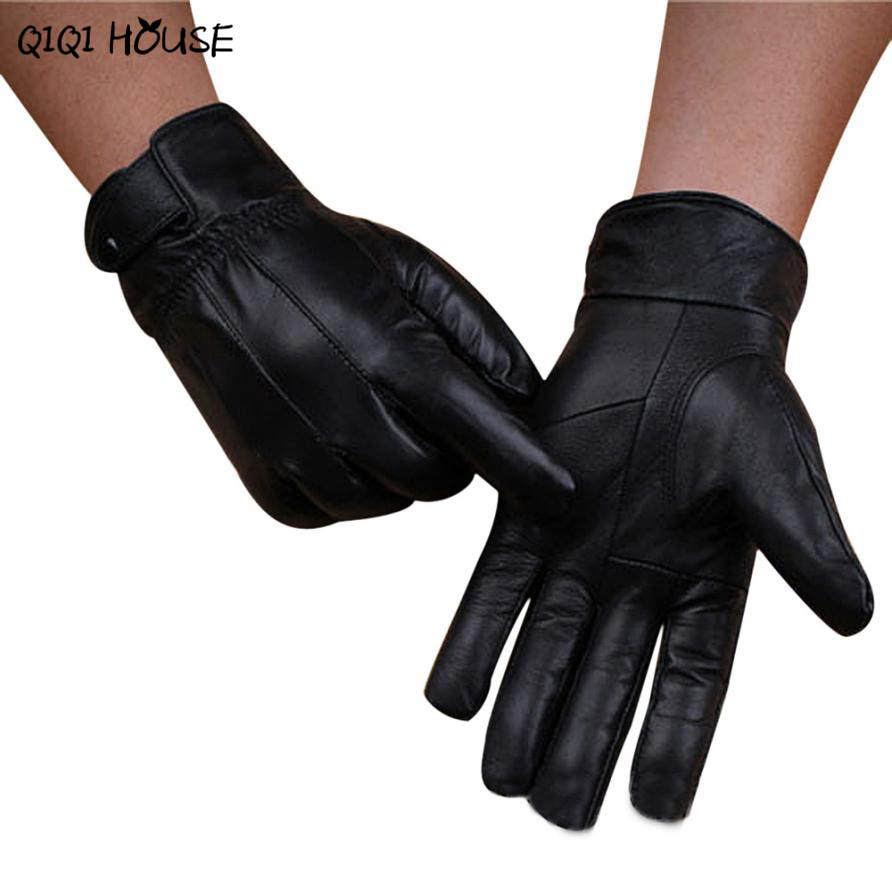 Mens leather gloves ireland - Leather Gloves High Quality Men Super Warm Hand Driving Gloves Outwear Workout Gloves Luvas Motociclista3b921