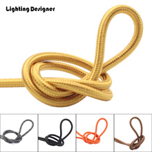 Free shipping (5m/Lot) braided electrical wire Vintage Fabric Copper Conductor Eletrical Wire(2*0.75mm) Edison Bulb Lamps cable