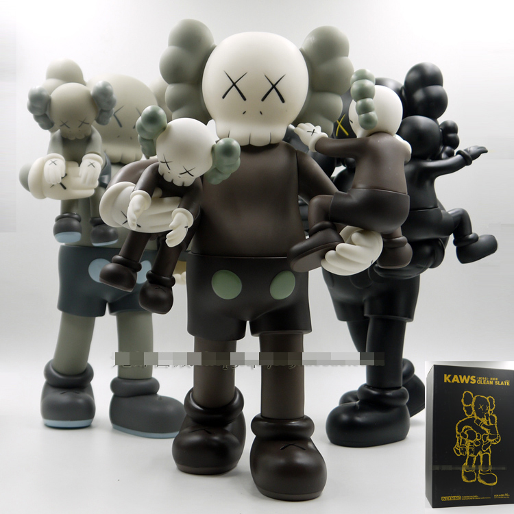 New OriginalFake KAWS figure kaws clean slate 16inch 3 color medicom toy with retail box slate