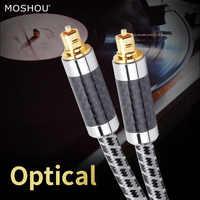 Cables de Audio y vídeo Digital fibra óptica optico cobre libre de oxiácidos audiófilo HIFI DTS Dolby MOSHOU entusiasta 7,1 sonido