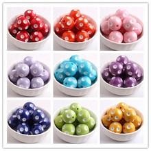 Kwoi Vita bijoux de mode colorés 12mm/14mm/16mm/18mm/20mm/24mm perles à pois en résine pour collier de perles Chunky en gros