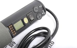 Image 3 - 220V 450W 450 Degree LCD Adjustable Electronic Heat Hot Air Gun Desoldering Soldering Station IC SMD BGA Rework 4 Nozzle 8018LCD