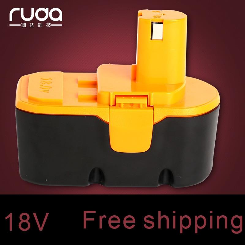 For Ryobi 18V 1300mAh power tool battery 1400672/1322401 /1323303/1322705/130224007/130256001 /B-8288 /BCHI-18 /BPT1027/RY-1804