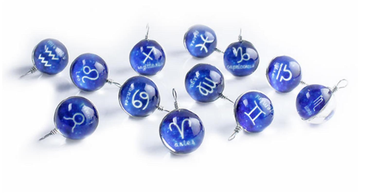 12 collar de constelación brillante collar de constelación Zodiaco serie joyería brillan en la oscuridad