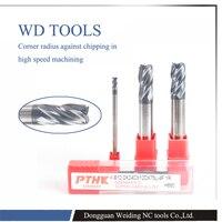 5 pcs 6.0XR1.0X50 Solid Carbide corner radius 35 Hélice CNC machine tool para a variedade de materiais sólidos/fresagem ferramentas HRC65
