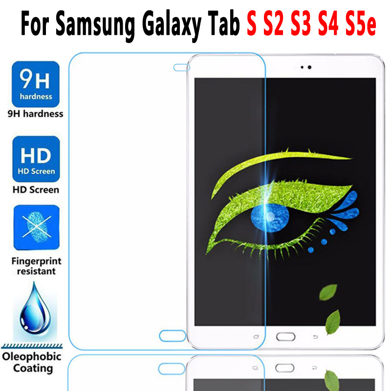 9H HD Tempered Glass For Samung Galaxy Tab S S2 S3 S4 S5e S6 Lite 9.7 10.4 10.5 T860 T720 T830 T810 T820 P610 Screen Protector