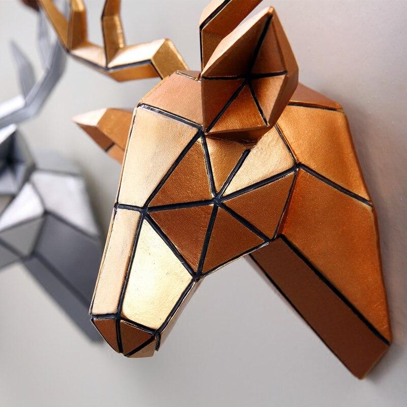 Geometric Deer Wall Ornaments Cabinet TV Family Decorative Pop Art 1
