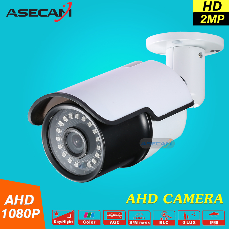 New 2MP 1080P CCTV Camera Outdoor Waterproof Mini White Bullet 24*leds infrared Night Vision AHD Surveillance Security System new cctv ahd hd 960p surveillance waterproof outdoor metal bullet security camera infrared night vision 50meter