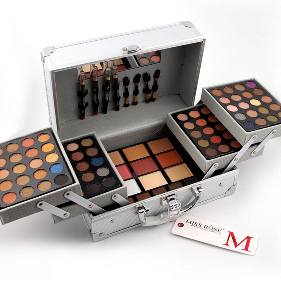 Miss Rose Pro 94 Colors Eyeshadow Pallete Fashion Women Cosmetic Case Full Pro Makeup Palette Concealer Blusher 2017 Spring цена