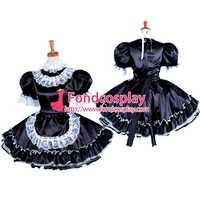Запираемая горничная Сисси атласное платье униформа косплей костюм на заказ [G1576]
