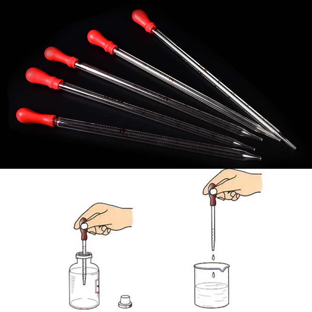 1 стекло для ПК градуированная Пипетка с резиновая клизма лаборатория химия капельница дозирование 0,5 мл 1 мл 2 мл 3 мл 5 мл