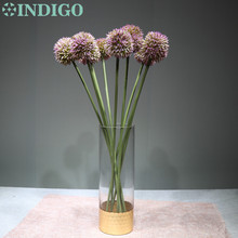 INDIGO 9pcs Purple Onion Flower Plastic Ball Form Hydranea Wedding Floral Event Party Table Free Shipping