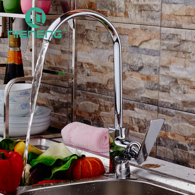 Nieneng Flexible Kitchen Faucet Bronze Chrome Kitchen Tools Contemporary Equipment Torneira Sink Faucet Furniture ICD60328