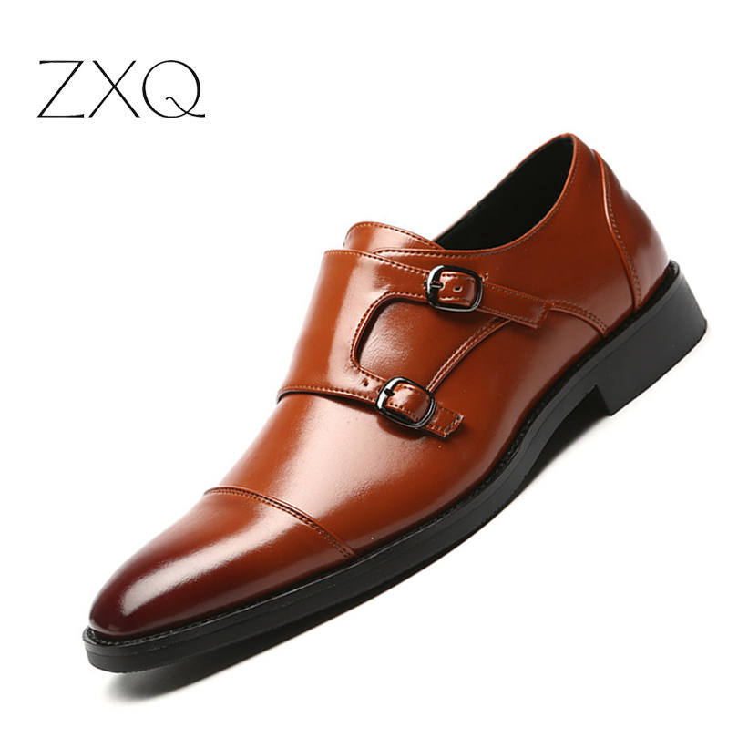 Plus Size 48 Men Formal Dress Shoes Pointed Toe Vintage Gentlemen Doubt Buckle Monk Strap Shoes Slip On Men Oxford Shoes italians gentlemen пиджак