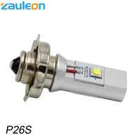 1pcs Motorbike Motorcycle P26S LED Bulbs Headlight Car Lamp For Scooter Moped White 20W LED 6