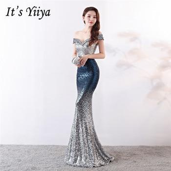 37f9079d0d7af28 Это Yiiya Вечерние платья Длинные блестками молнии сзади пикантные ...