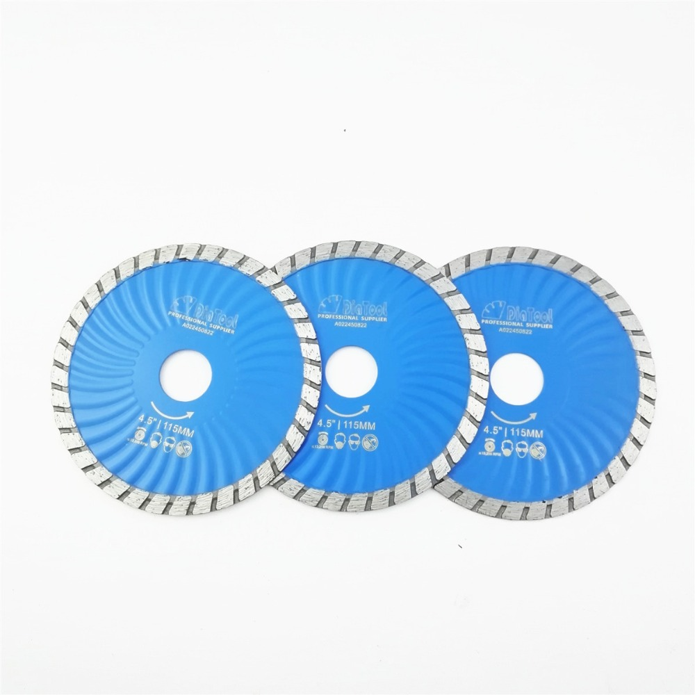 US $18 63 31% OFF|3pcs 115mm Hot pressed Diamond turbo Blade 4 5
