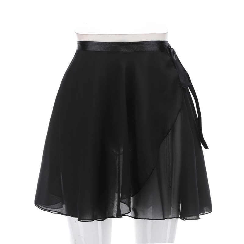 Балетная танцевальная юбка для взрослых и детей, шифоновое однотонное платье с цветочным принтом, купальник для танцев, женское балетное платье для танцев