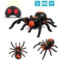 Bambini Giocattoli Divertenti Tarantula Spider Telecomando A Raggi Infrarossi Finto Falso Ragni Bambini Trucco Terrificante Giocattolo Regali FJ88