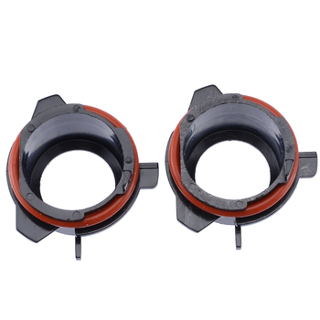 Car Light Base 2pcs H7 HID Xenon Bulb Conversion Adapter Holder for BMW E39 5 Series 1997 1998 1999 2000 2001 2002 2003 image