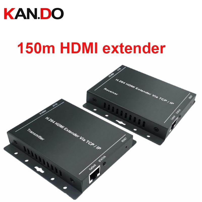 206L 150M HDMI Extender Over IP RJ45 492FT/150M Transmission Supports Over cat5e/cat6 Full HD 1080P/H.264 HDMI transmission цена