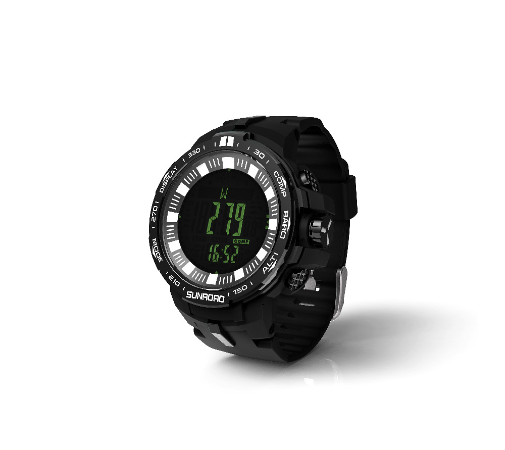 SUNROAD 2018 New Arrival Watch Men FR861B-Outdoor Barometer Compass Altimeter Temperature Clock Men Sports Digital Watch (Black)