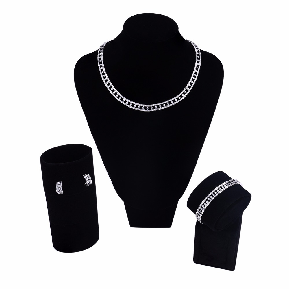 Direct Selling African Jewelry Set Lead Free Nice Aaa Cubic Zirconia Bridal Sets Allergy Free Fashion Jewelry