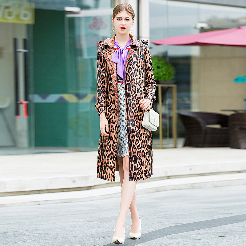 Coat High Quality Fall Winter New Women S Fashion Party Vintage Elegant Chic Snakeskin Print Loose