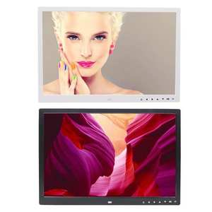 Video-Player Calendar Digital-Photo-Frame Electronic-Album 17inch HD with Clock Touch-Buttons