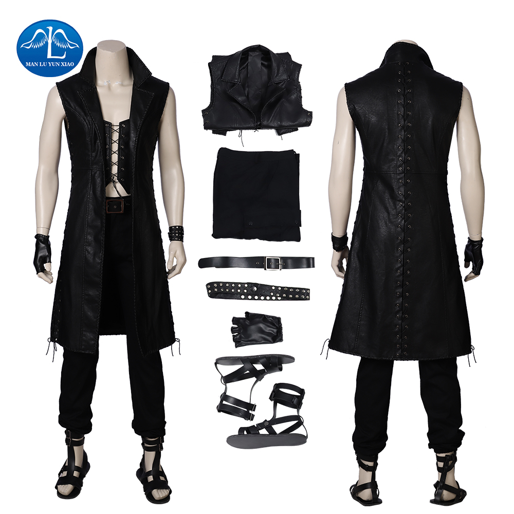 Devil May Cry 5 Vitale Costume Halloween Vitale Cosplay Costume Men Full Set With Boots Adult Cosplay Free Shipping Custom Made