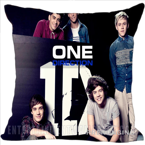 Custom Pillowcase Cover 1D One Direction @02 Square Zipper Pillow Cover Print Your Pictures 20x20cm,35x35cm(one side) 180117#76