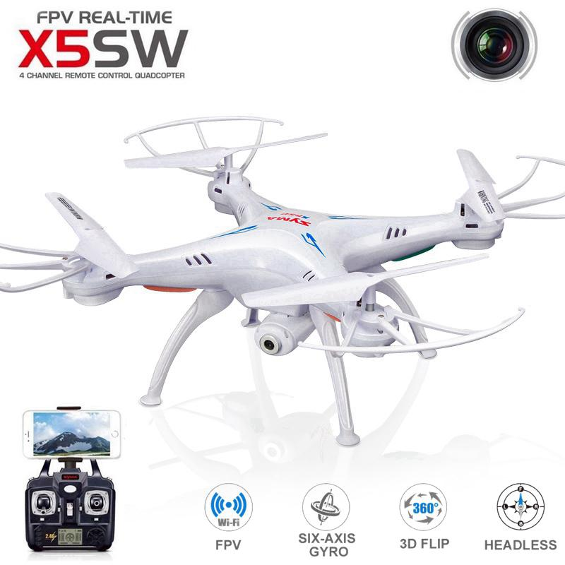 Original SYMA X5SW WIFI RC Drone Quadcopter with FPV Camera Headless 6-Axis Real Time Helicopter Quad copter Toys Flying Dron syma x5sw wifi rc drone fpv quadcopter with camera headless 2 4g 6 axis real time remote control helicopter quadcopter toy