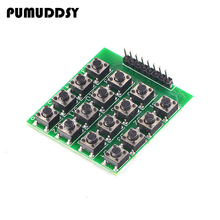 5pcs 4×4 Matrix 16 Keypad Keyboard Module 16 Button Mcu new