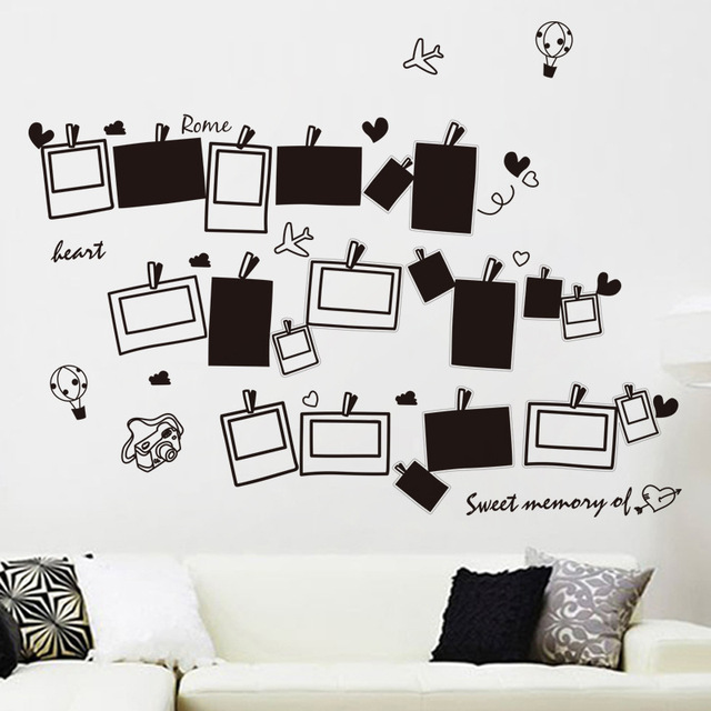 creative love sweet memories travel photos wall decoration stickers