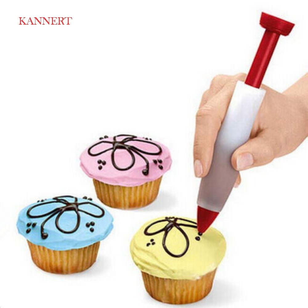 Silicone Fondant Cake Pen Pastry Icing Writing Syringe Baking Decor DIY Tools