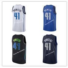 cdcc54427 2019 New  41 Dirk Nowitzki Rookie  77 Luka Doncic  1 Dennis Smith Jr Throwback  shirt Stitched US Size S-XXL