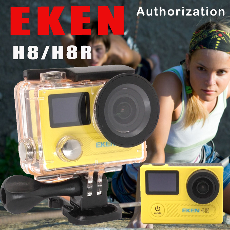 Prix pour EKEN H8R/H8 Ultra HD 4 K WIFI Action Camera 1080 p/60fps 720 P/120FPS VR360 Mini Cam Étanche Casque Sport DVR + Option Monopode