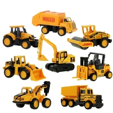 ChildrenS Toy Mini Set Alloy Engineering Vehicle Excavator Sliding Car Model 8Pcs