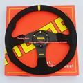Free Shipping Universal Flat MOMO Racing Car Steering Wheel 350mm Suede Sport Steering Wheel