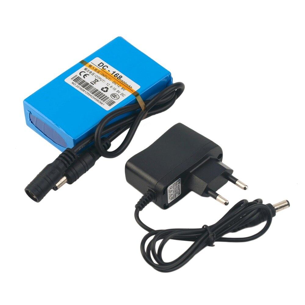 DC 12V 1800MAH Super Capacity 1800MAH Rechargeable Li-ion Battery With EU Plug Replacement Li-ion Battery For CCTV Camera