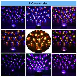 Image 4 - 9 Kleur Bluetooth Speaker Disco Ball Mini Music Audio Draadloze Dmx Stage Licht Club Draagbare Party Luid Dj Controller Projector