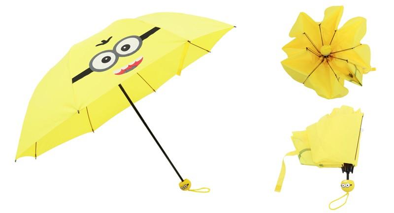 Creative Cute Cartoon Bear Rabbit Totoro Villain Children Umbrella 3 Folding Pongee Windproof Rain Umbrella For Kids13