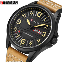 CURREN Luxury Military Quartz Watches Men Casual Analog Military Sports Watch Quartz Watch Clock Male Wristwatches
